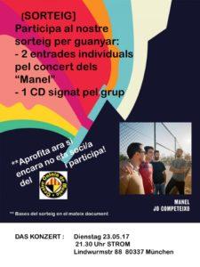 flyer concert Manel